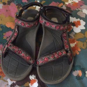 Floral Teva Sandals